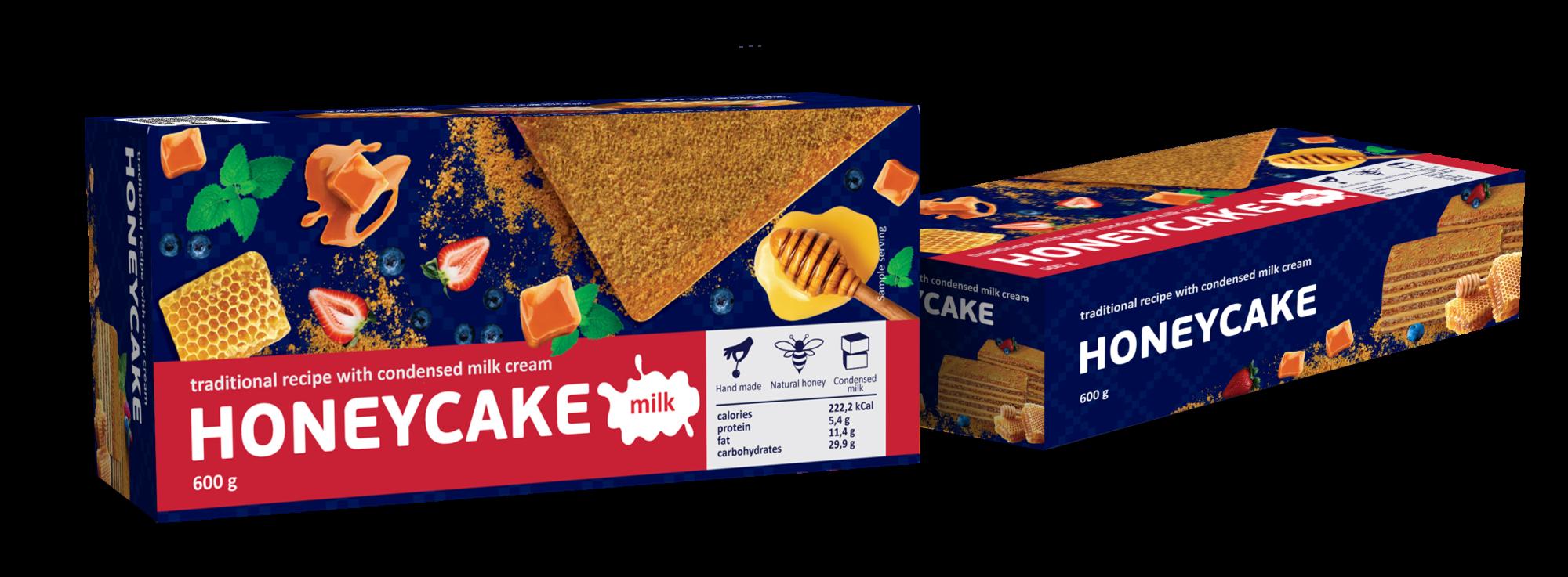 Торт медовый Коровка 600г