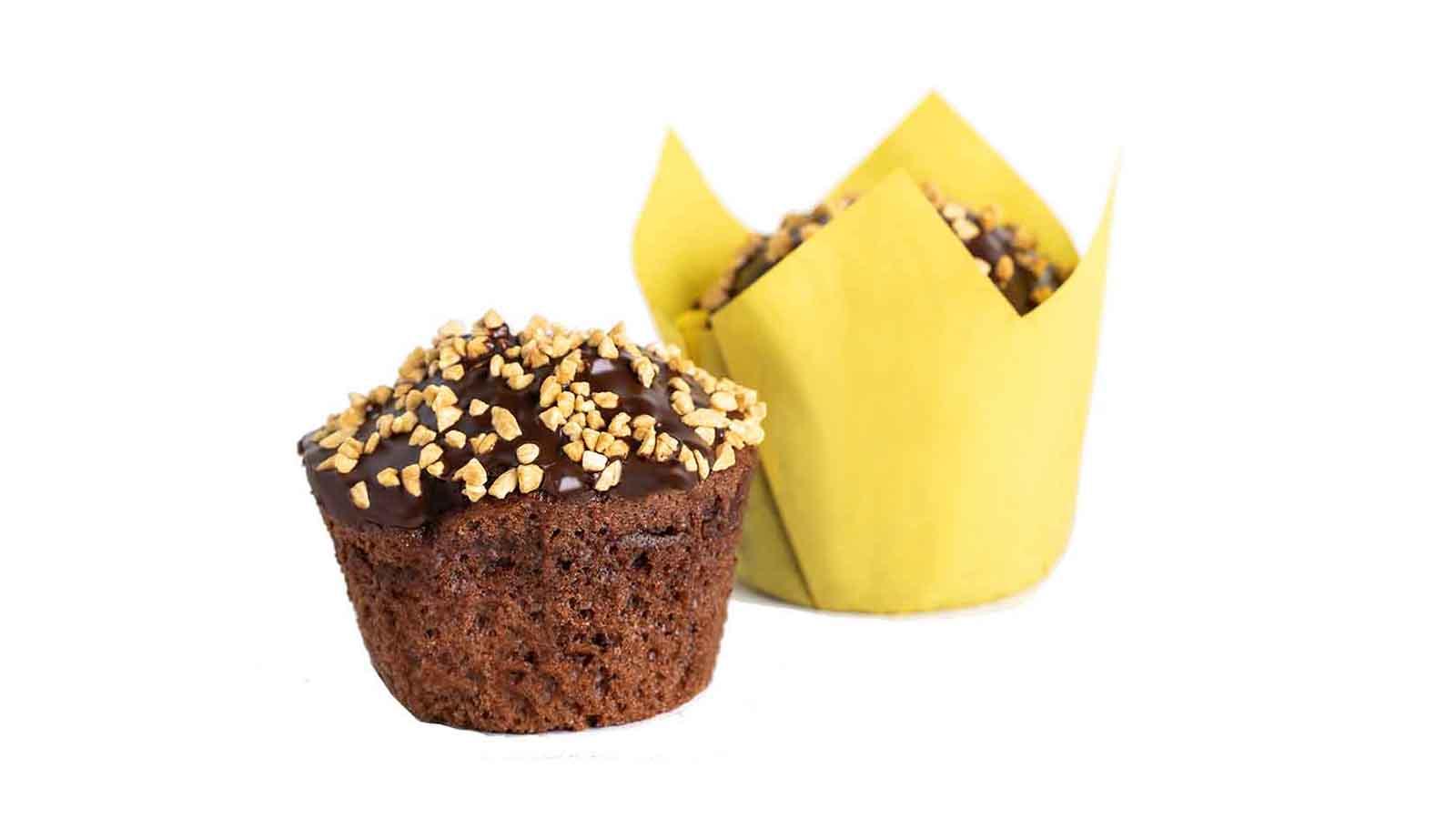 Маффин шоколадно-банановой начинкой 80г