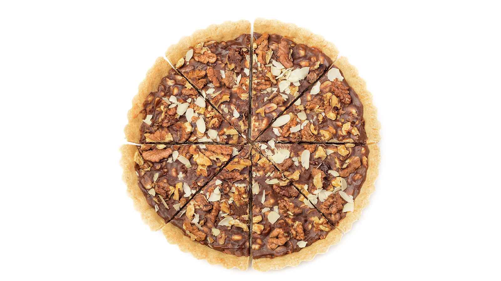 Tart with Nuts and chocolate