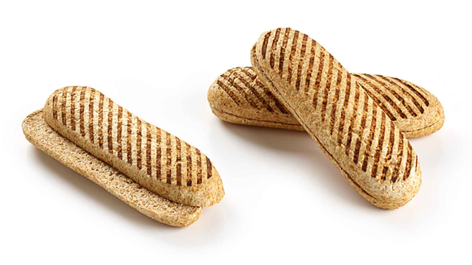 Panini whole-grain cutted bun