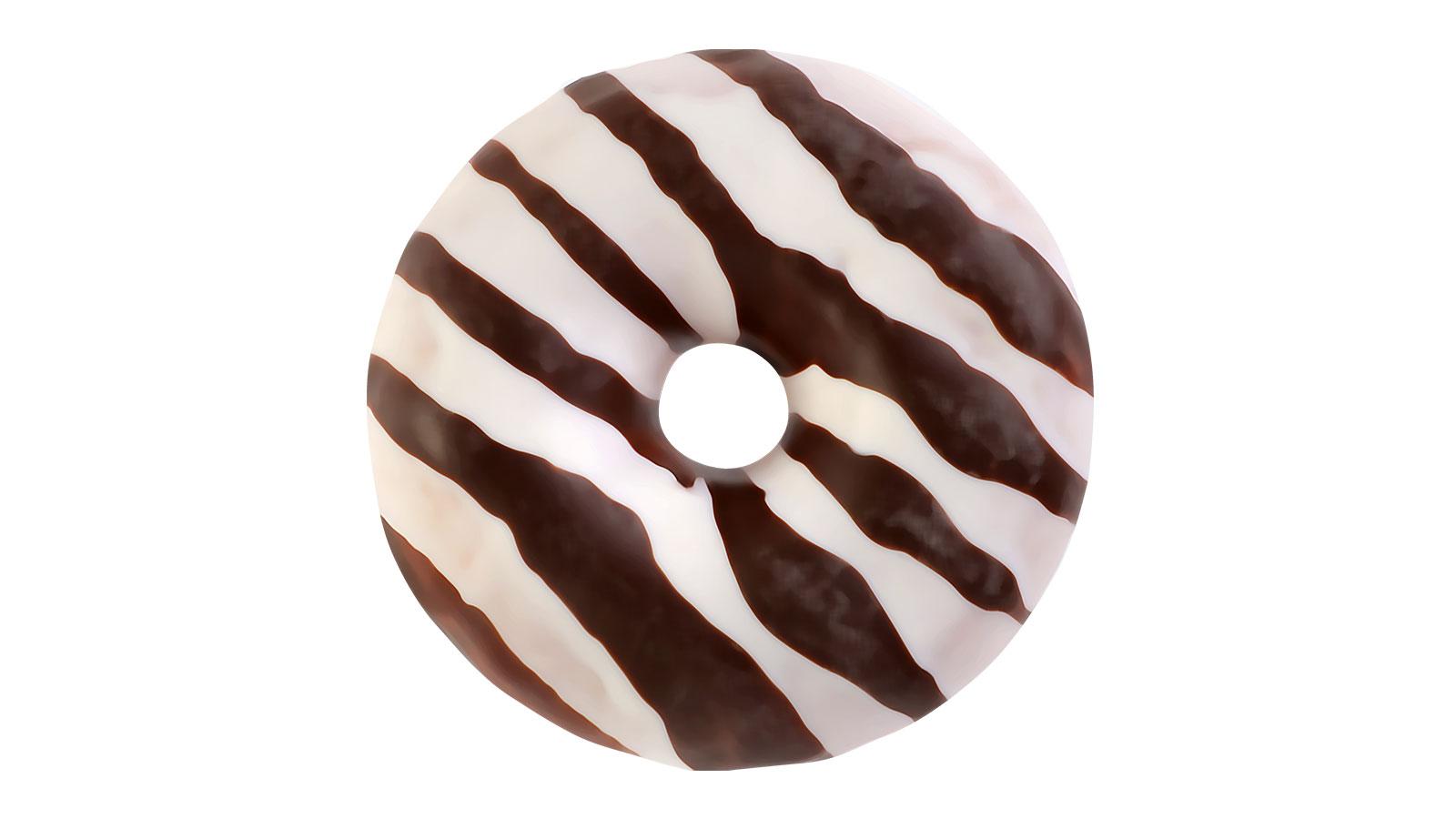 Donut MINI black and white decor