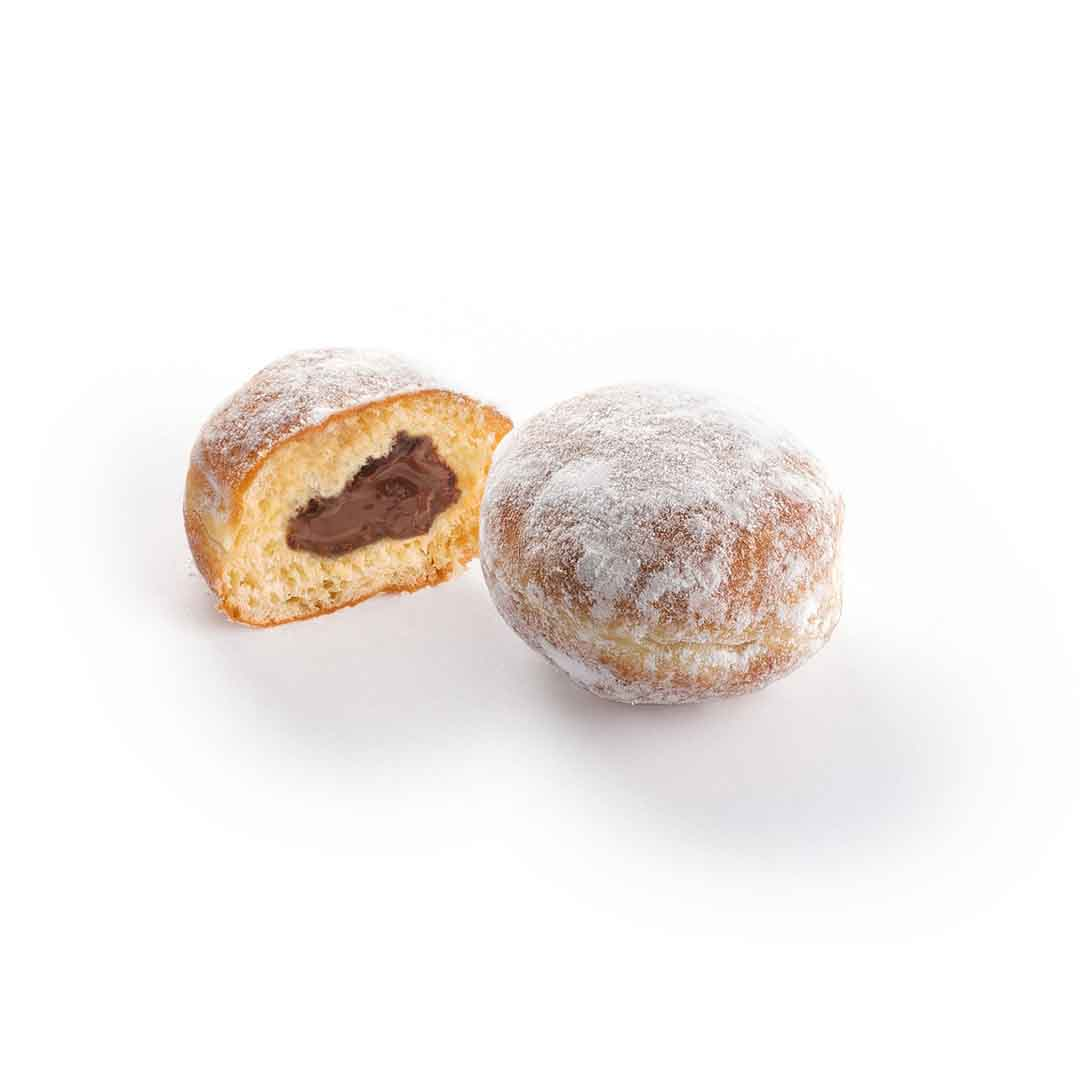 Berliner MINI with chocolate and nut filling