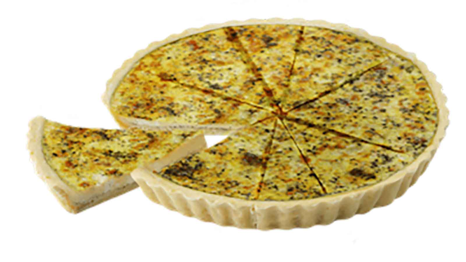 Quiche Sun-dried tomatoes with basil