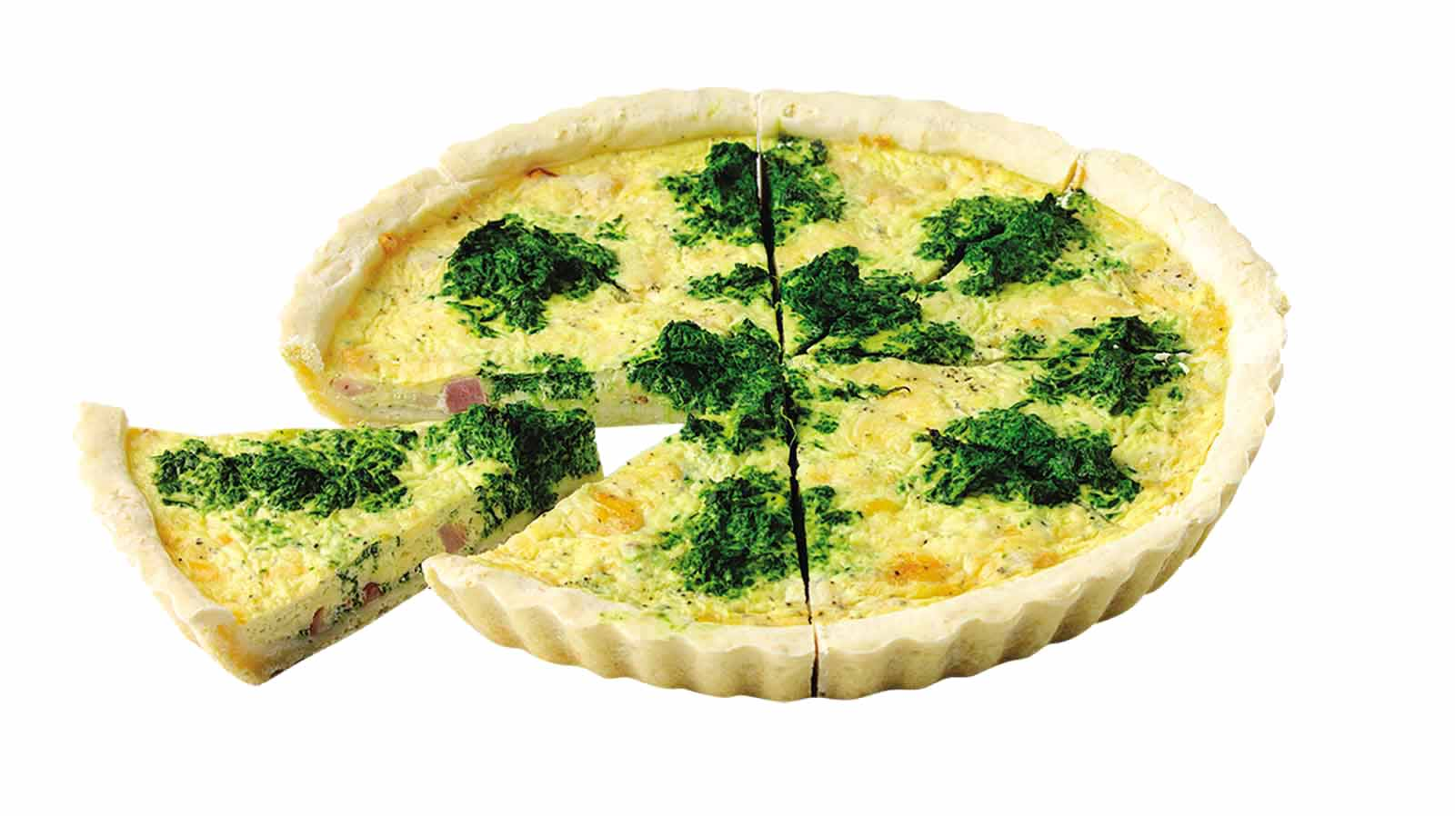 Quiche Spinach and ham