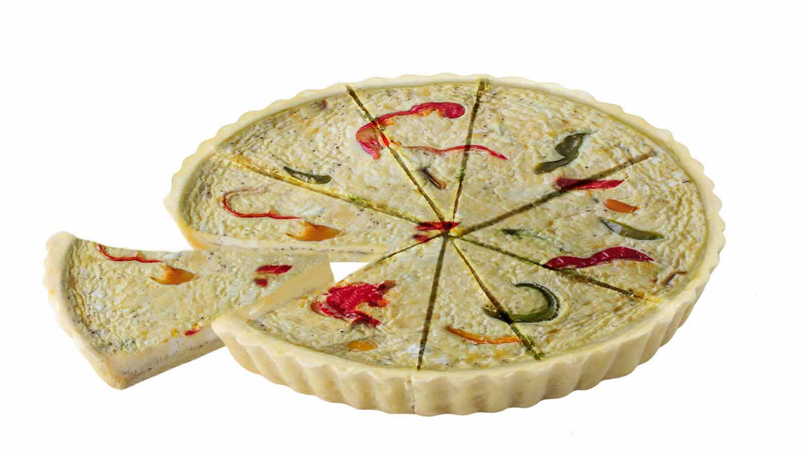 Quiche Pepper and cheese