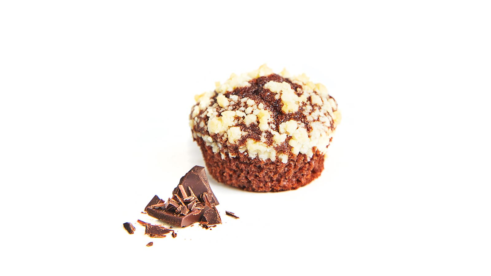 Chocolate muffin with sugar crumbs 50g