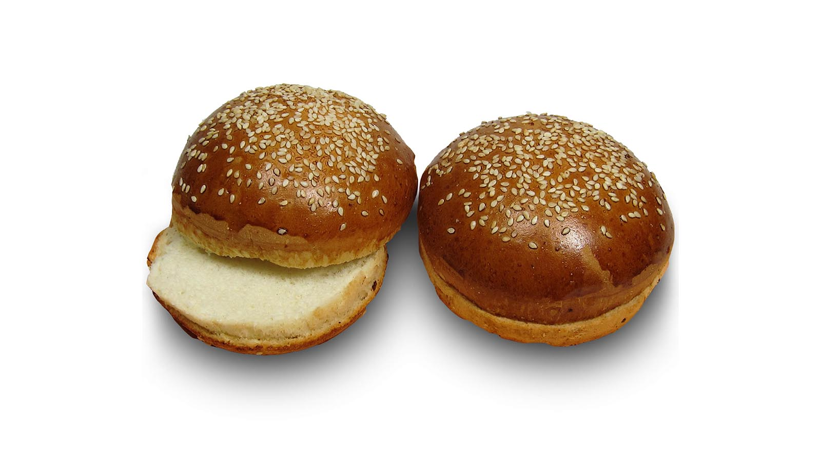 Burger brioche bun classic with sesame seeds