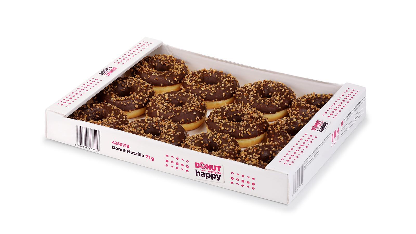 Donut Nutzilla with hazelnut filling (tray)