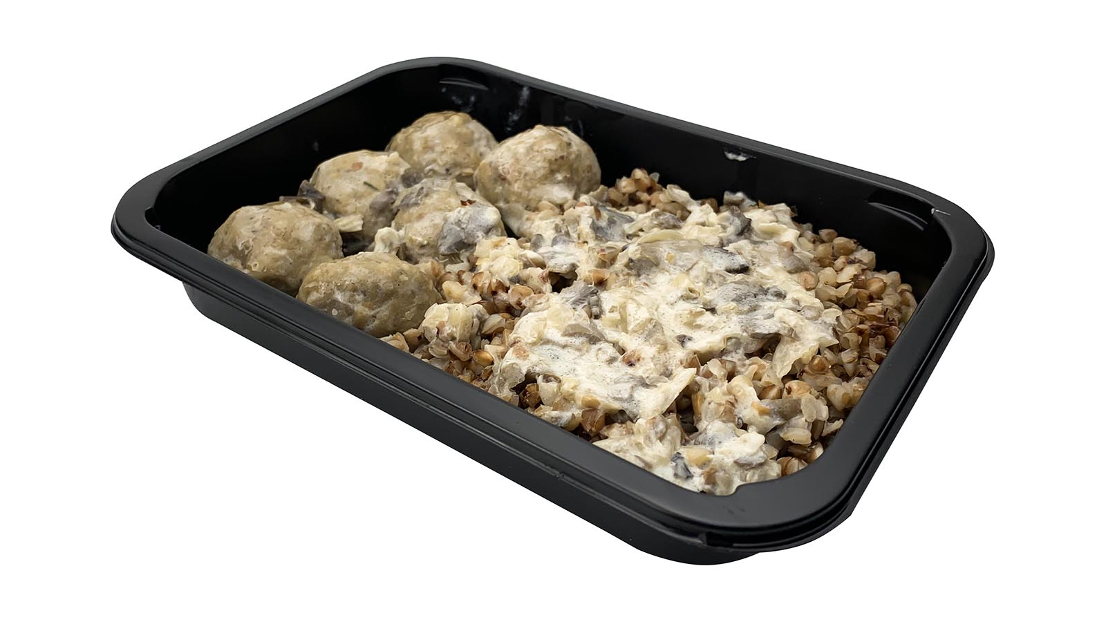 Buckwheat with mitballs in mushroom sauce, 0.3 kg