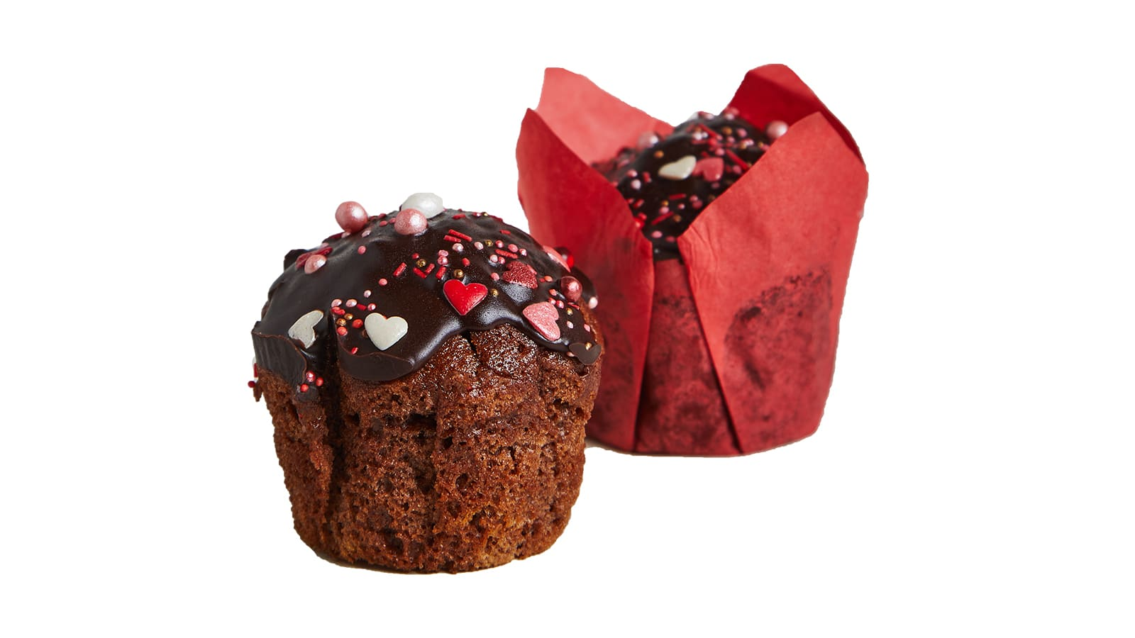Muffin LOVE with chocolate filling