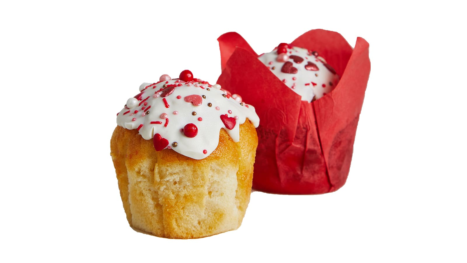 Muffin LOVE with creamy raspberry filling