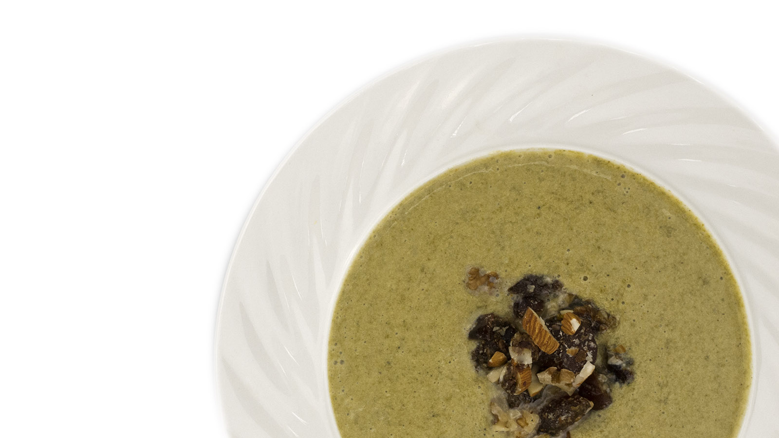 Spinach&Broccoli creamsoup with garnish