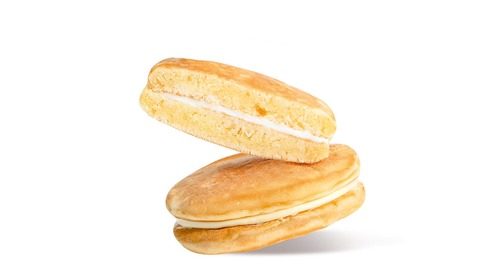Панкейки-сендвичи с пломбирной начинкой