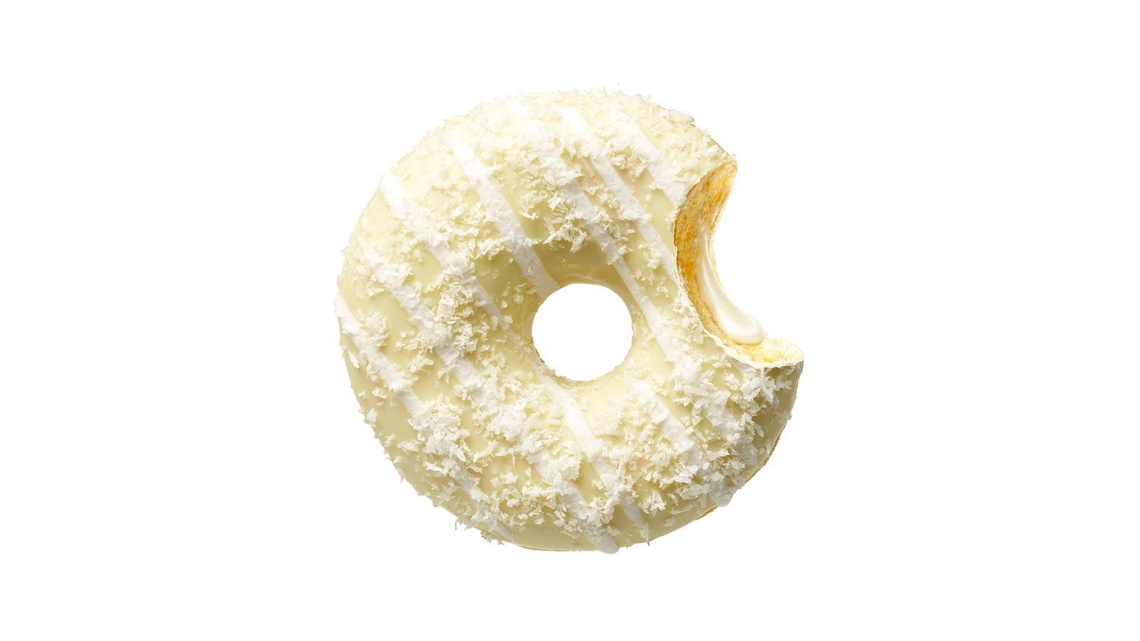 Донат RUFFALLO CREAM с кремовой начинкой и кокосом