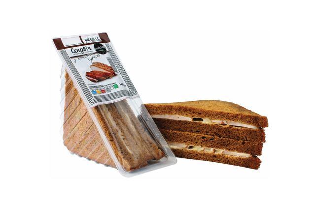Malt Sandwich with smoked chicken
