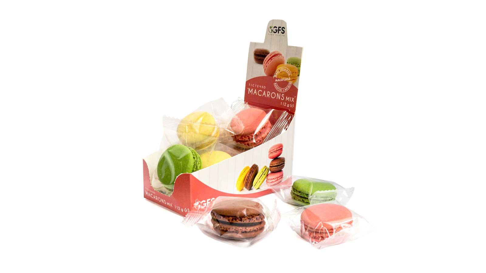 Macarons MIX 112g (flowpack 8pcs*14g)
